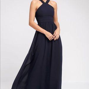Air of Romance Navy Maxi Dress